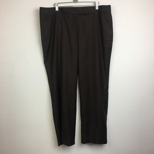 NWT J Crew Brown Cropped Trouser in Super 120s